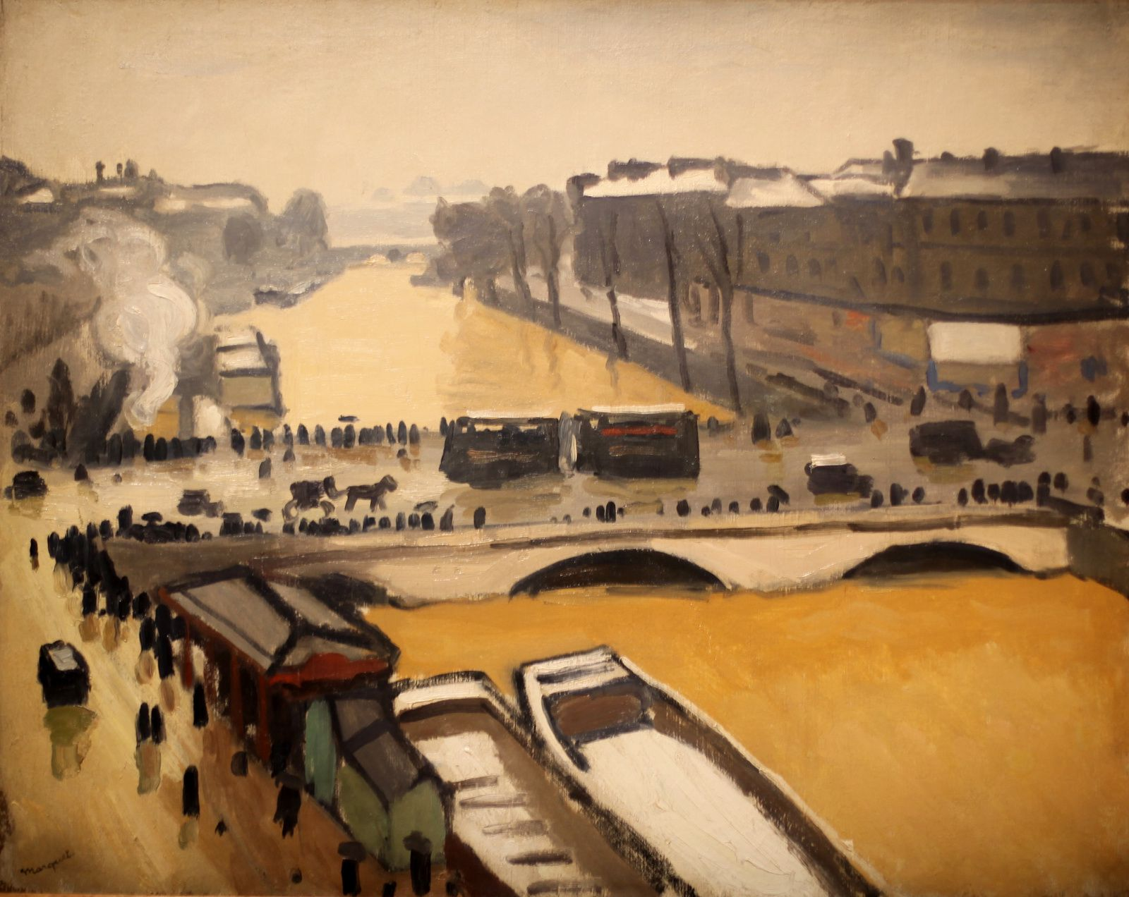 """Le pont Saint Michel inondation à Paris"", 1910 d'Albert Marquet © Photo Éric Simon"
