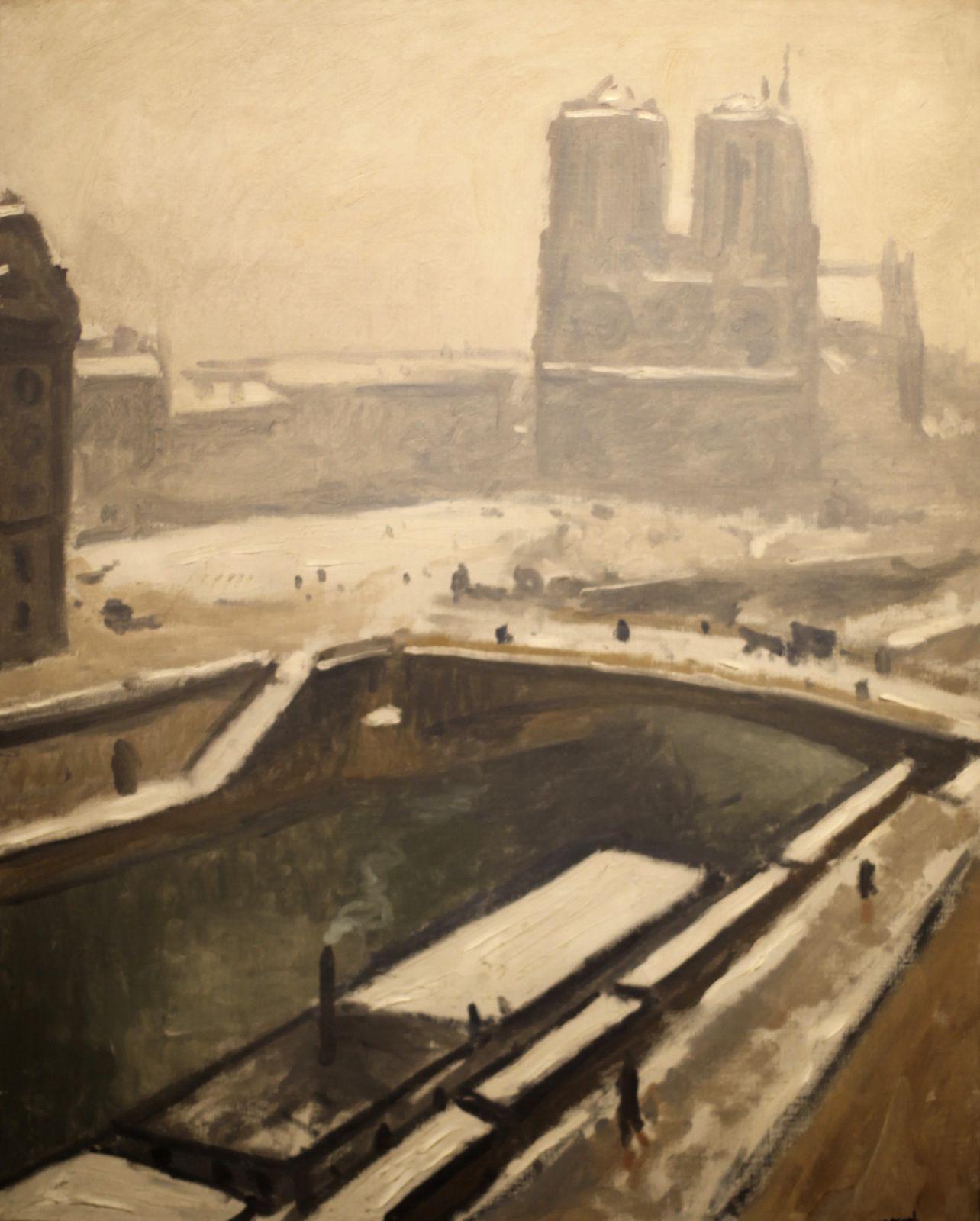 """""""Notre Dame sous la neige"""", 1928 d'Albert Marquet © Photo Éric Simon"""