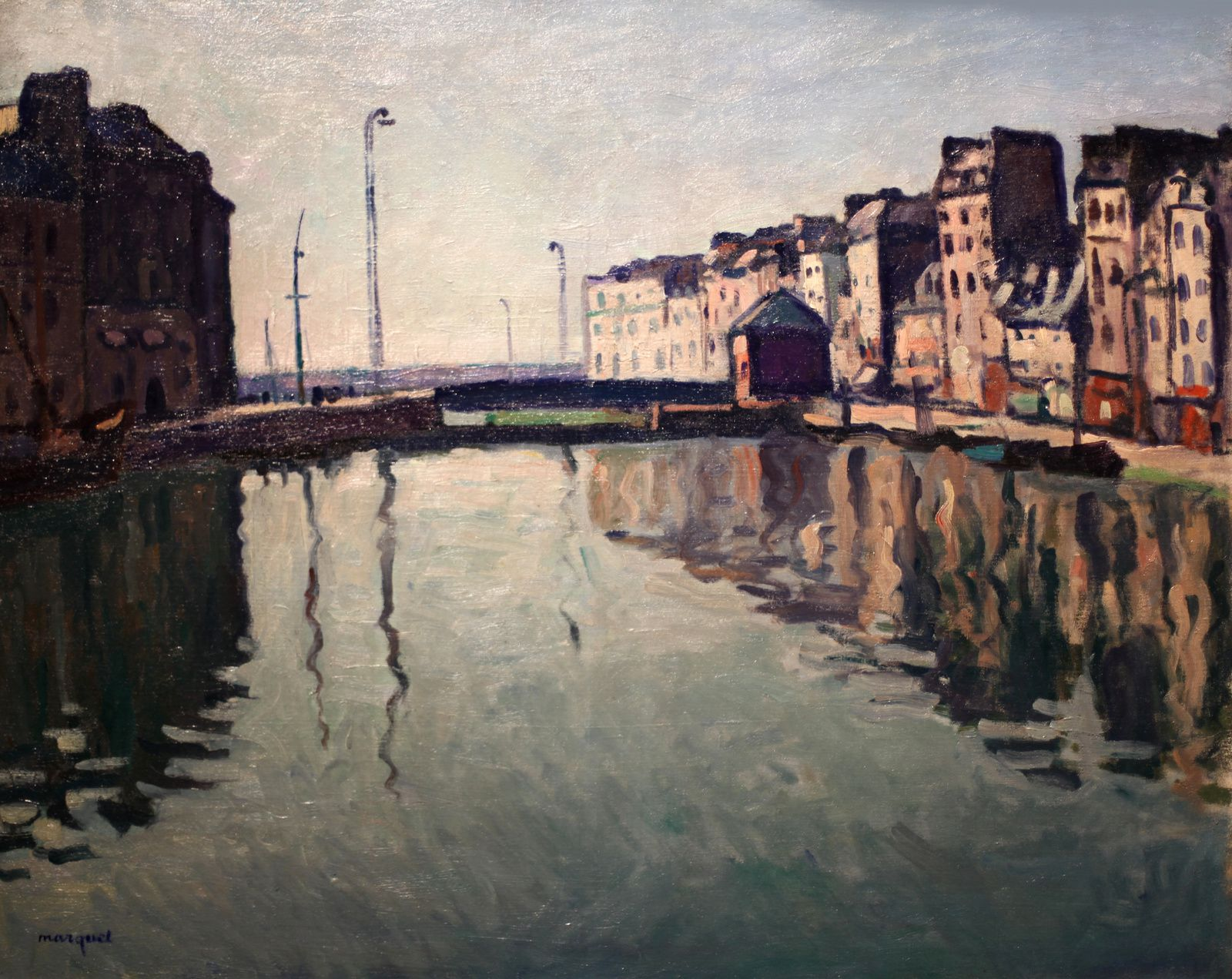 """Le bassin du Roy, Le havre"", 1906 d'Albert Marquet © Photo Éric Simon"