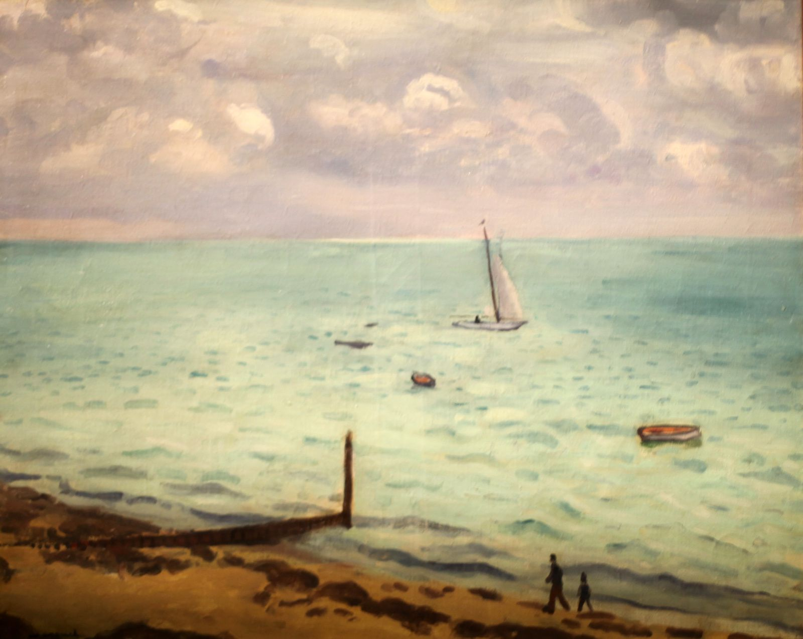 """La plage du Pyla"", 1935 d'Albert Marquet © Photo Éric Simon"