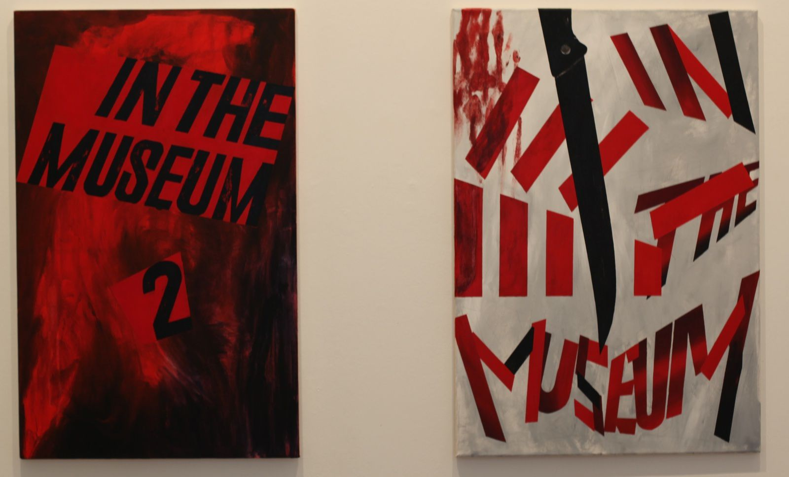 """In the museum (poster 12 et 9)"", 2012 de Mathis Gasser - Courtesy galerie Xippas © Photo Éric Simon"