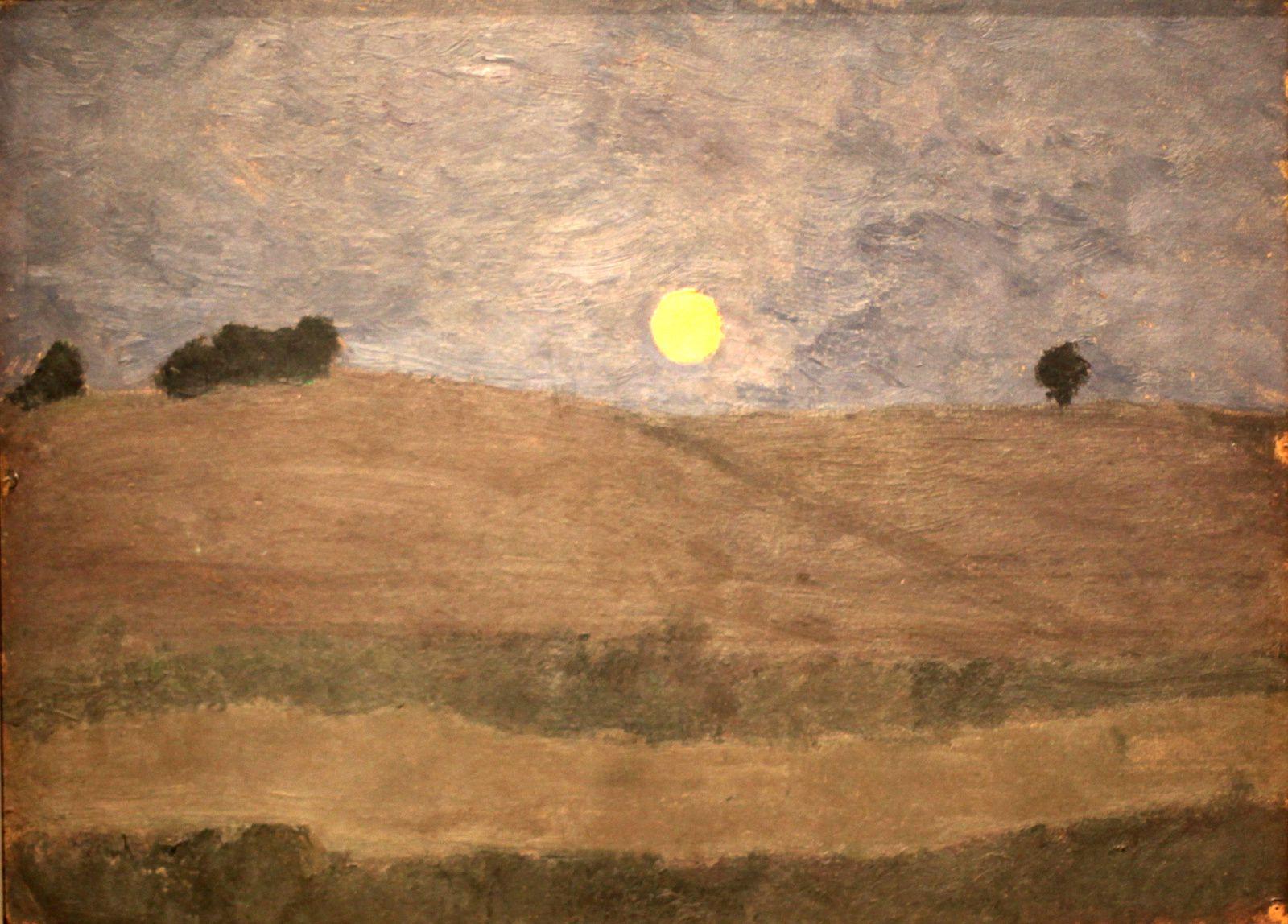 """""""Lune au-dessus d'un paysage"""", 1900 de Paula Modersohn-Becker © Photo Éric Simon"""