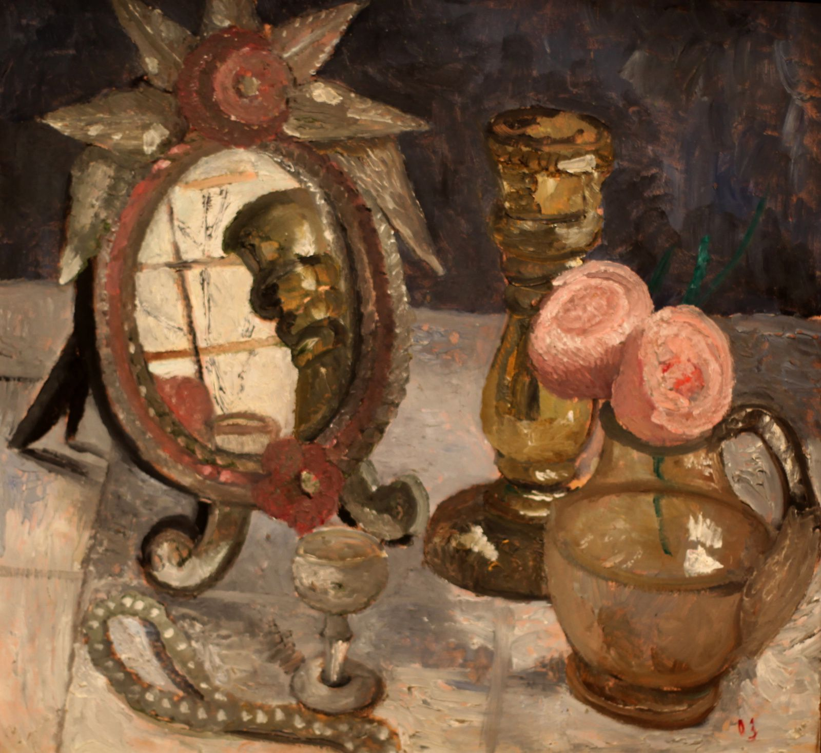 """Nature morte au miroir vénitien"", 1903 de Paula Modersohn-Becker © Photo Éric Simon"