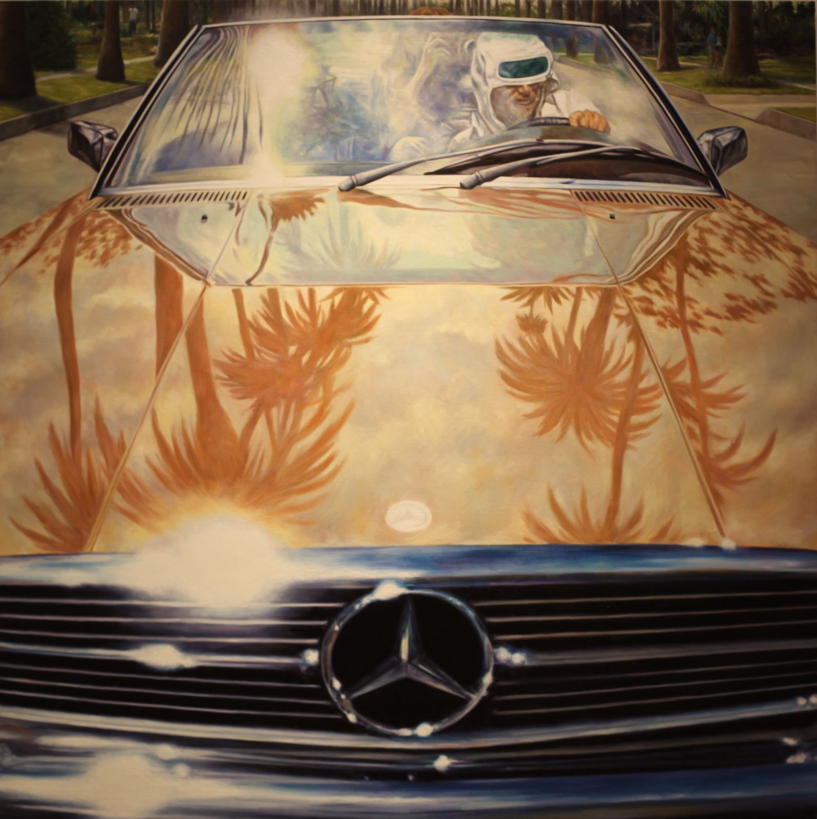 """1974 Mercedes-Benz 450 SL (Annie Hall)"", 2011 de Éric WHITE © Photo Éric Simon"