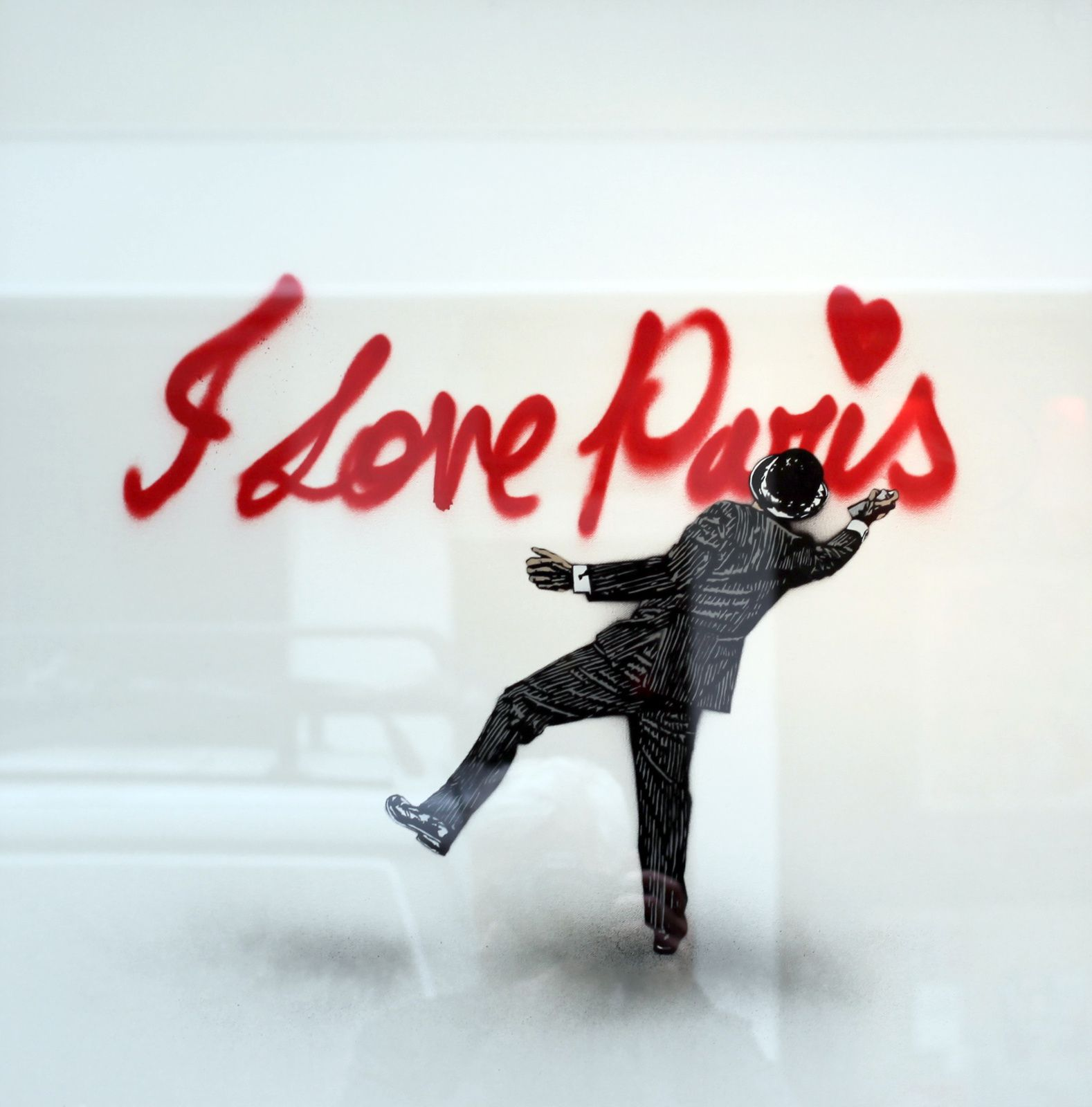 """I love Paris"", 2016 de Nick WALKER - Courtesy Galerie BRUGIER-RIGAIL © Photo Éric Simon"