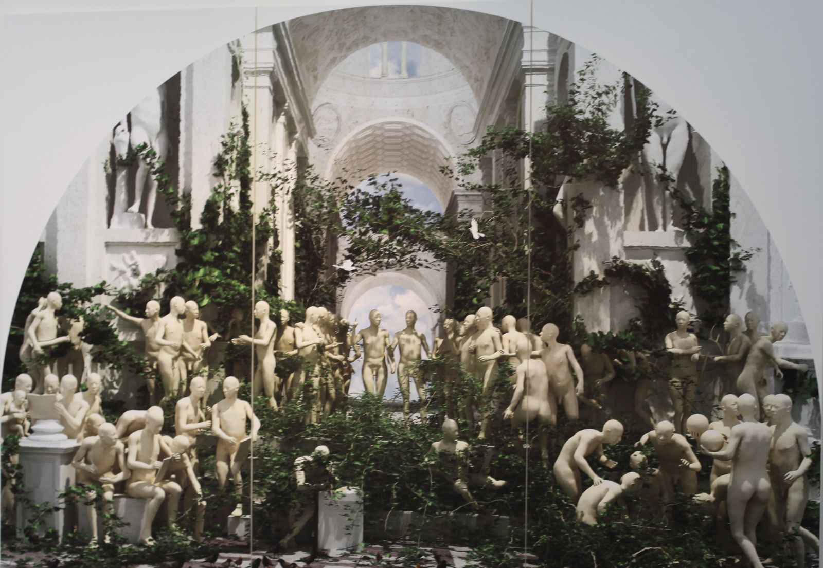 """The new school of Athens"", 2009 de Miao XIAOCHUN - Courtesy Galerie Paris Bejing © Photo Éric Simon"