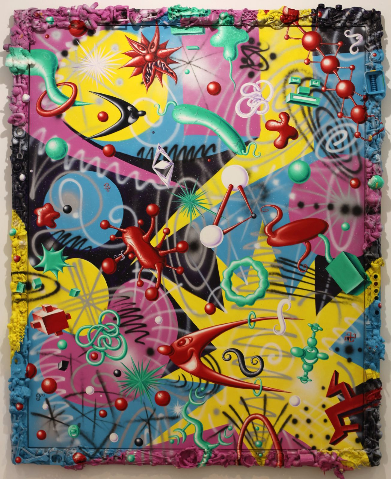 """Wrowow"", 1996 de Kenny SCHARF - Courtesy Galerie Laurent Strouk © Photo Éric Simon"