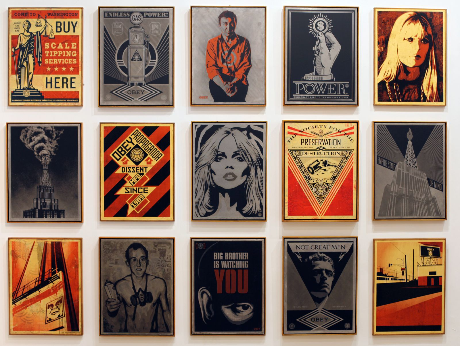 Shepard FAIREY 2010-2014  - Courtesy Galerie Laurent Strouk © Photo Éric Simon
