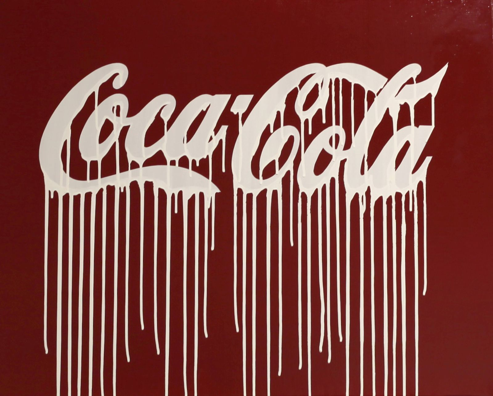 """Coca Cola"", 2013 de ZEVS - Courtesy Galerie Laurent Strouk © Photo Éric Simon"