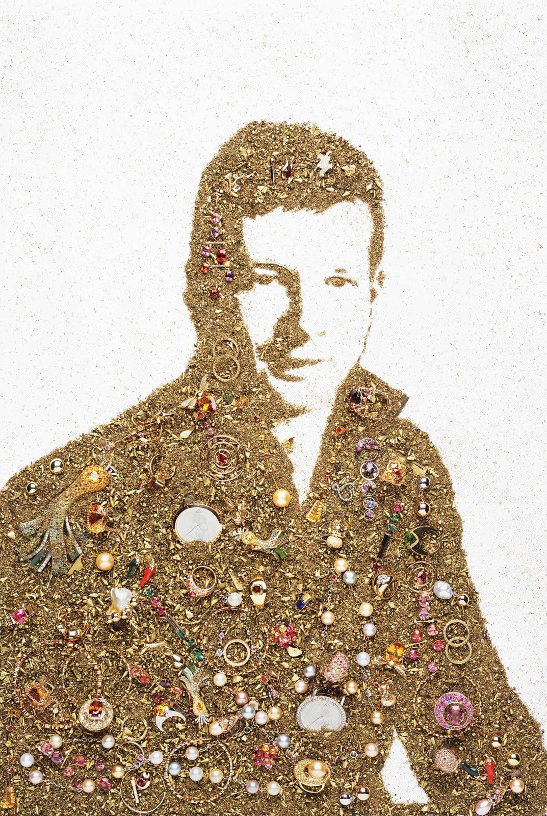 """Portrait of Lorenz Baümer"", 2007 de Vik MUNIZ - Courtesy MEP"