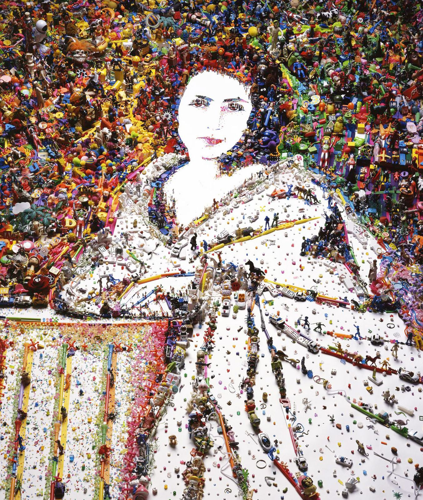 """Sarah Bernhardt, after Nadar (Rebus)"", 2010 de Vik MUNIZ - Courtesy MEP"