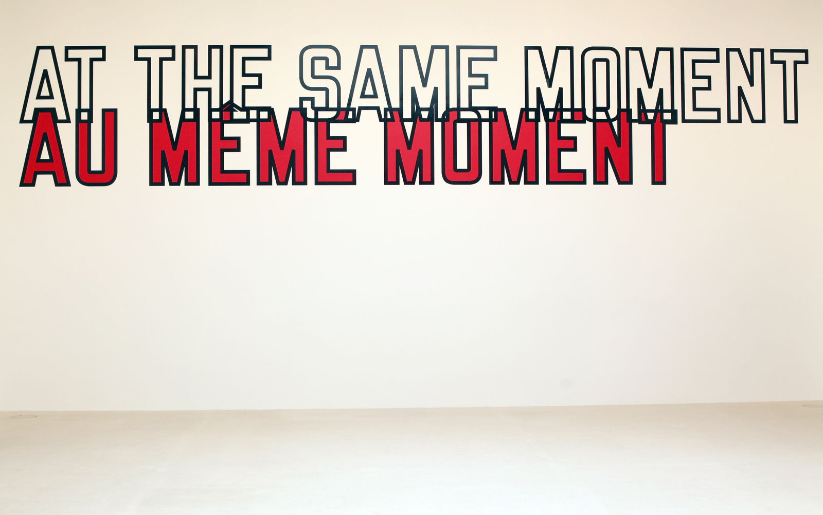 """At the same moment"", 2000 de Lawrence WEINER - Courtesy Galerie Gagosian © Photo Éric Simon"
