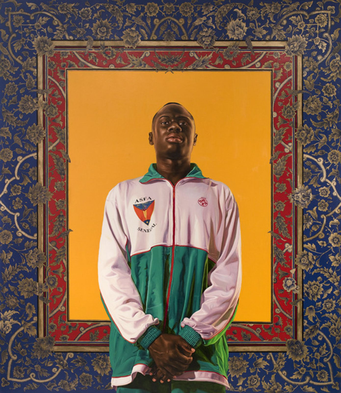 """Idrissa NDiaye"", 2012 de Kehinde WILEY - Courtesy Galerie Daniel Templon © Photo Éric Simon"