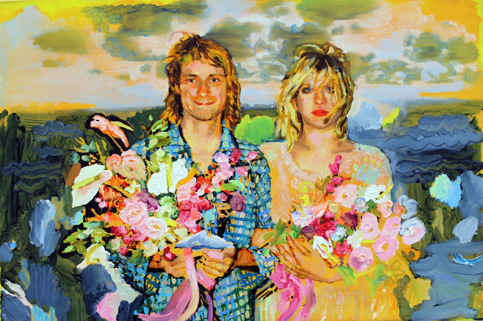 """Kurt and Courtney"", 2016 d'Ida Tursic et Wilfried Mille - Courtesy Galerie Almine RECH © Photo Éric Simon"