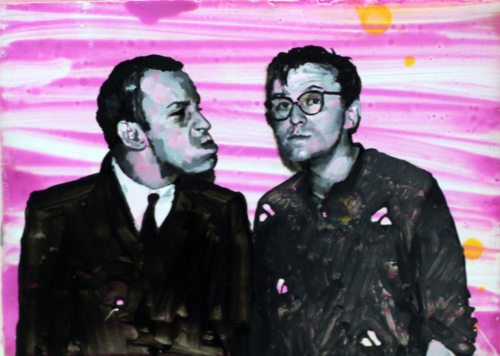 """""""Martin et Max"""", 2016 d'Ida Tursic et Wilfried Mille - Courtesy Galerie Almine RECH © Photo Éric Simon"""