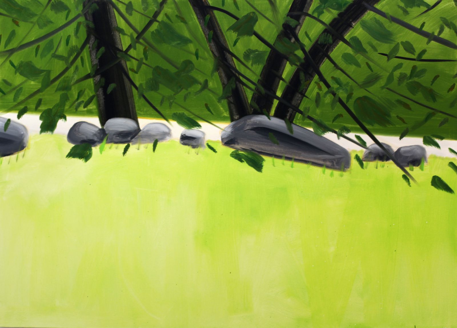 """Four Trees 2"", 2015  d'Alex KATZ - Courtesy Galerie ROPAC @ © Photo Éric Simon"