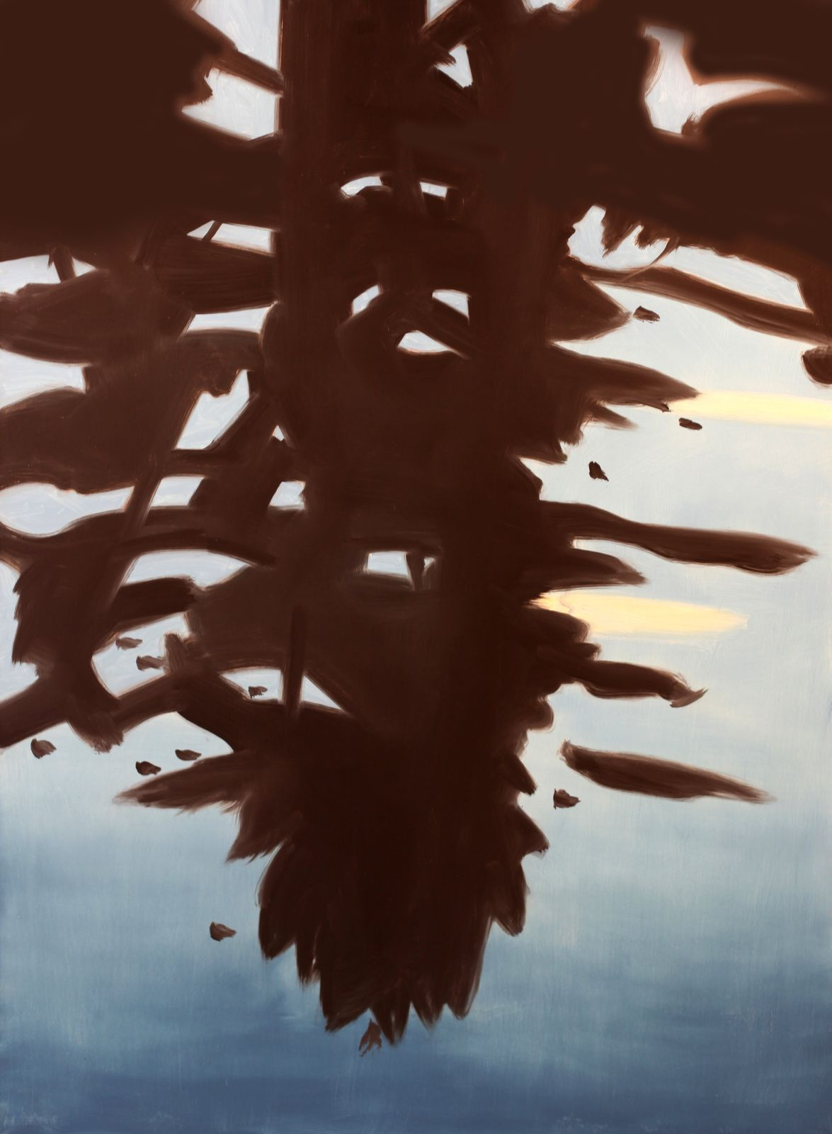 """Réflection 1"", 2008 d'Alex KATZ - Courtesy Galerie ROPAC @ © Photo Éric Simon"
