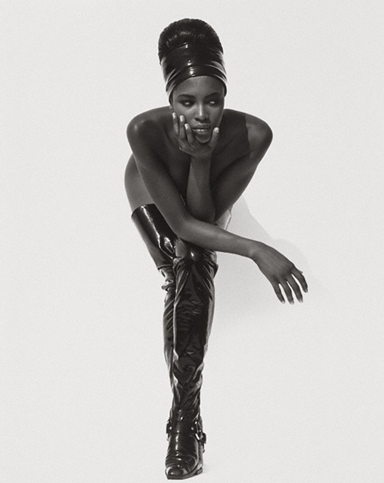 """Naomi Campbell, Face in Hand, Hollywood"", 1990, Herb Ritts,Gift of the Herb Ritts Foundation. © Herb Ritts Foundation"