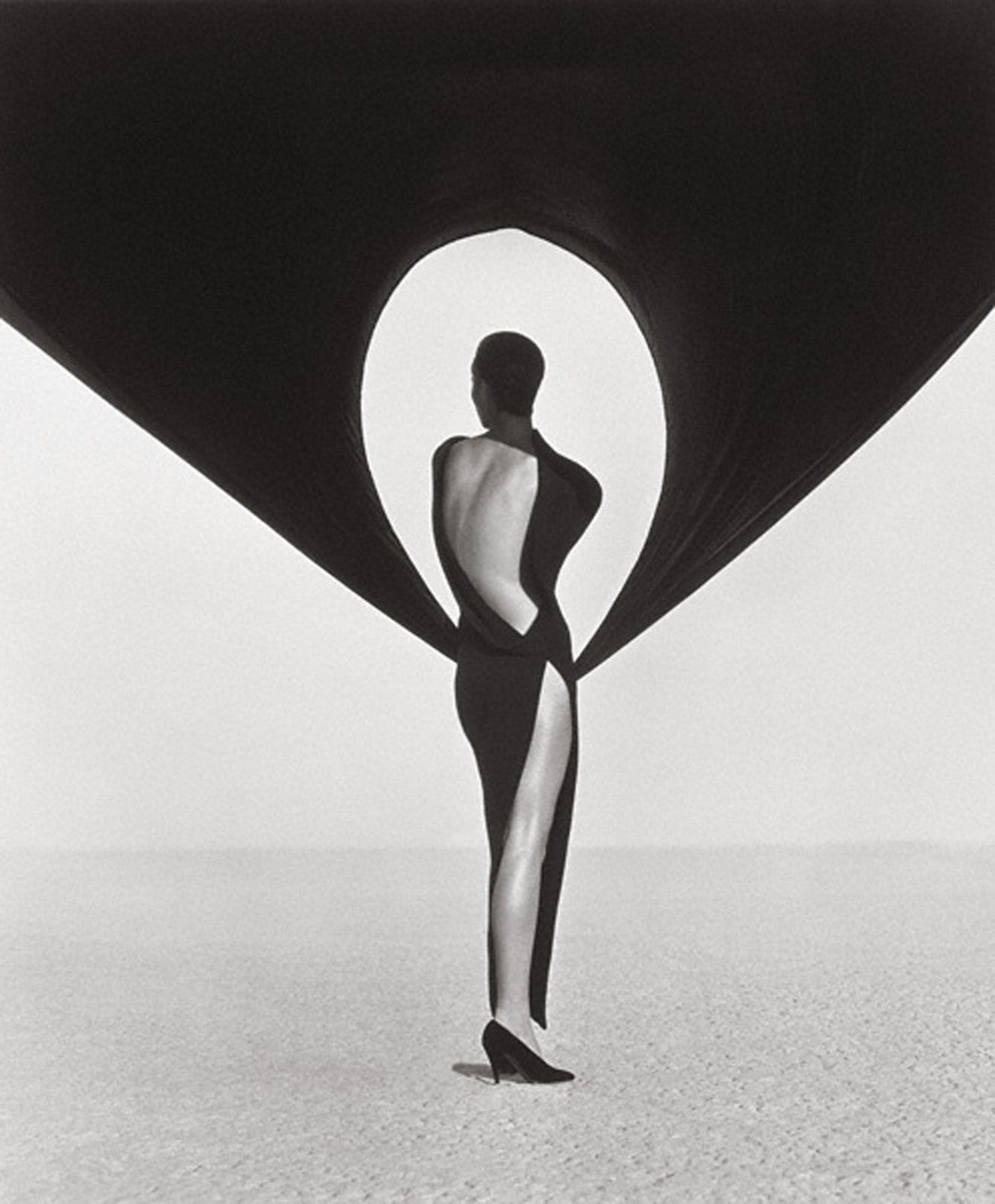 """Versace Dress, Back View, El Mirage"", 1990, Herb RITTS © Herb Ritts Foundation"