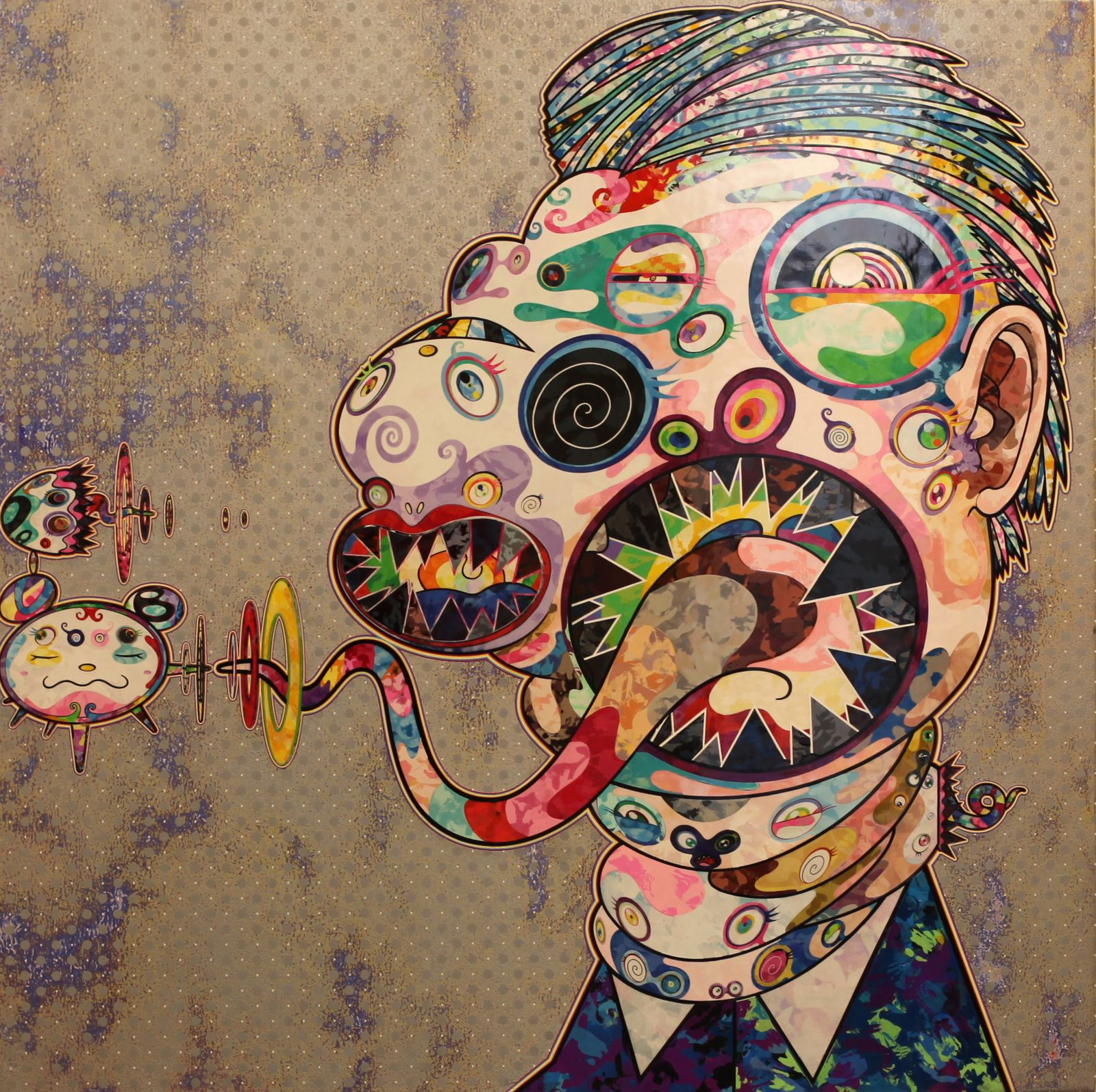 """Homage to Francis Bacon"", 2016 de Takashi MURAKAMI - Galerie Perrotin © Photo Éric Simon"