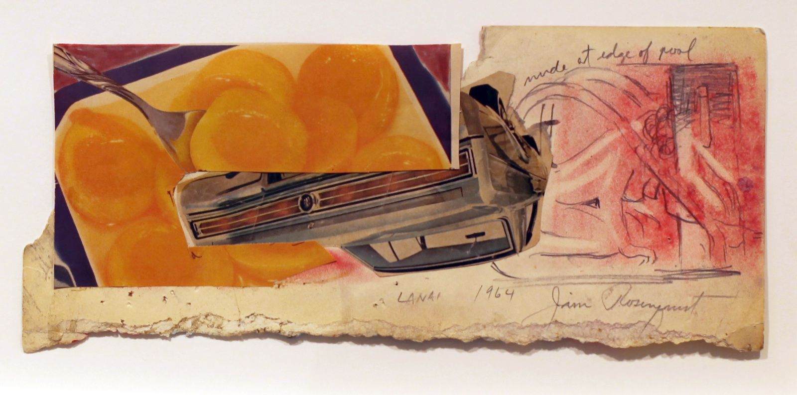 """Source and preparatory sketch for Lanai"", 1964 de James ROSENQUIST - Courtesy Galerie ROPAC Paris © Photo Éric Simon"