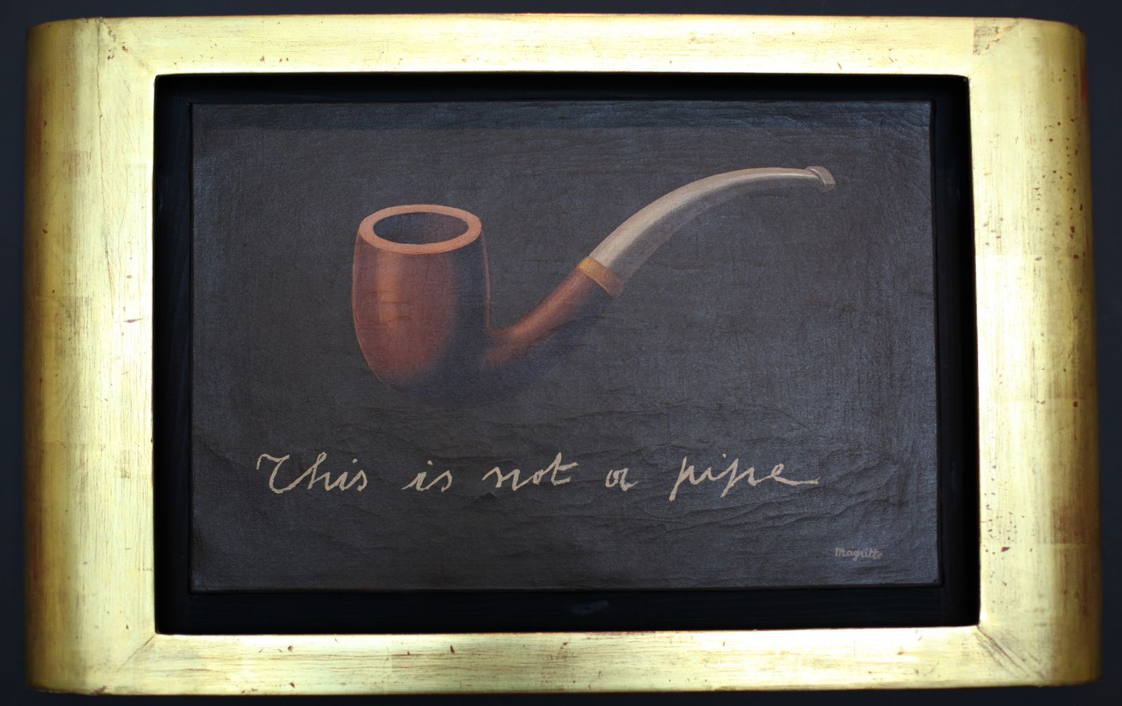 """This is not a pipe"", 1935  de René MAGRITTE - Collection Particulière © Photo Éric Simon"