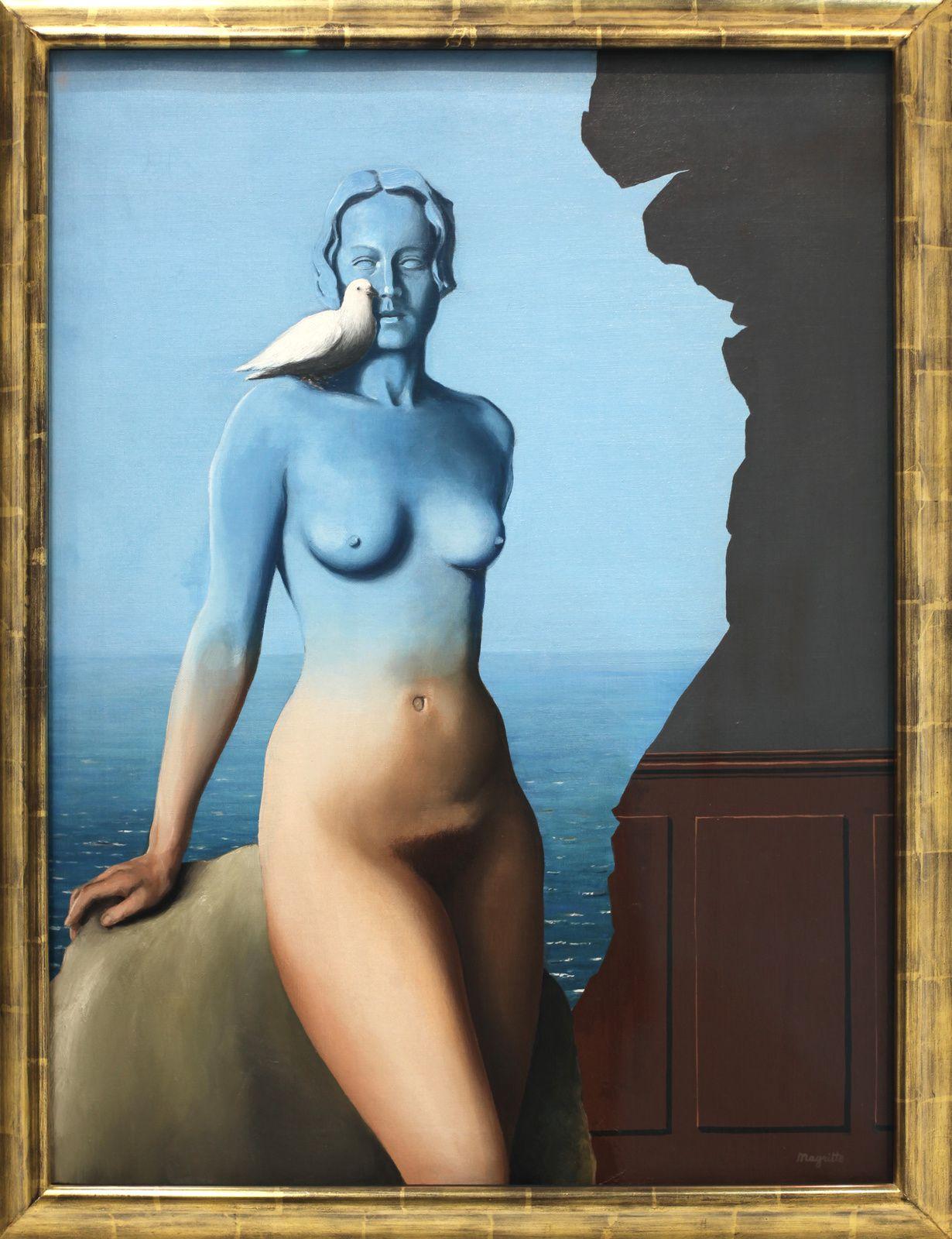 """""""La Magie Noire"""", 1934 de René MAGRITTE - Collection Particulière © Photo Éric Simon"""