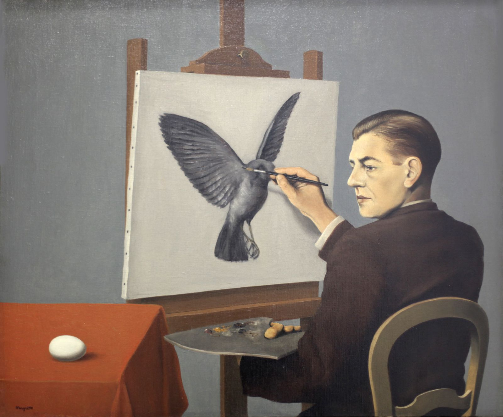 """La Clairvoyance"", 1936 de René MAGRITTE - Collection Particulière © Photo Éric Simon"