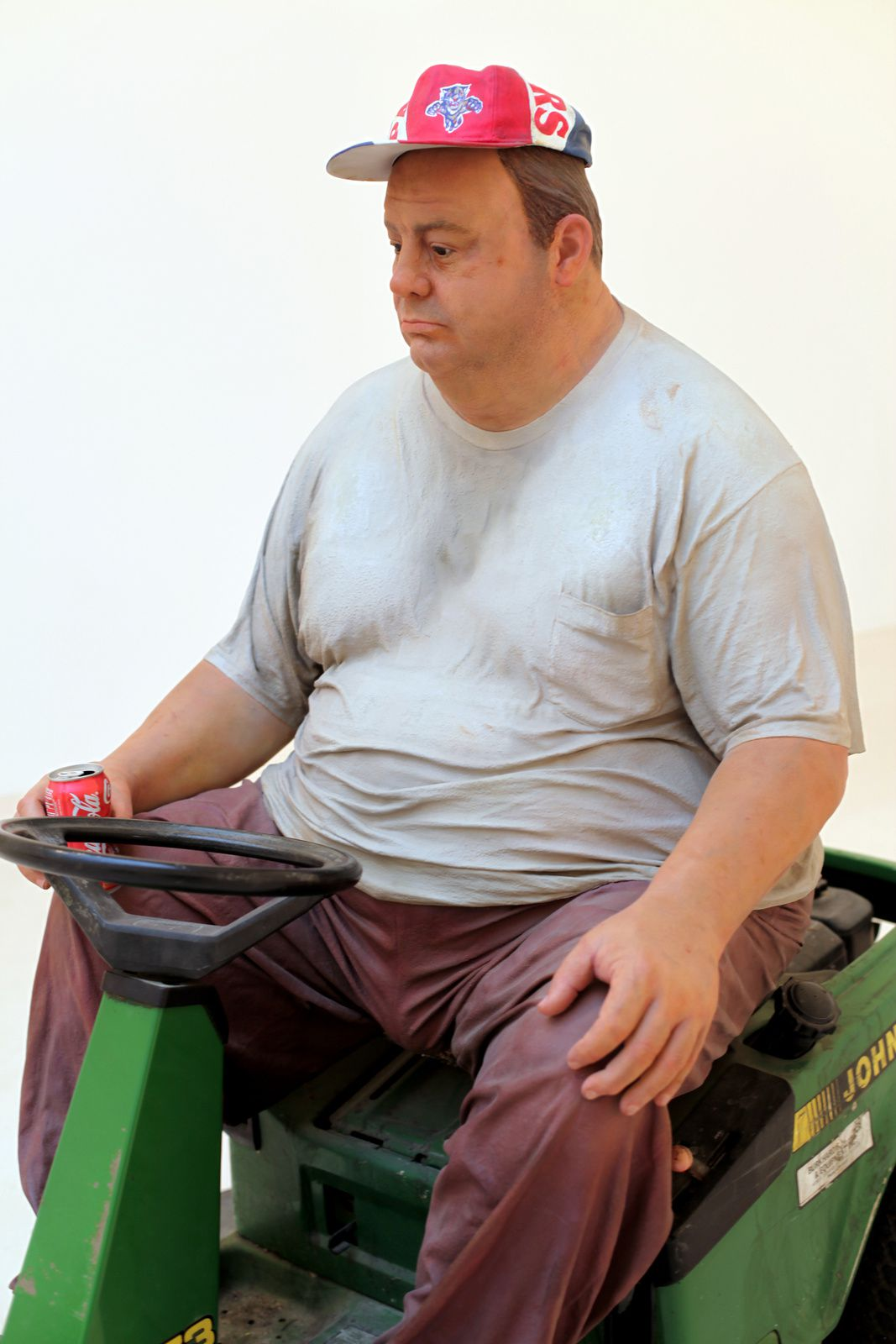 "Détail ""Man on a Mower"", 1995 de Duane HANSON - Courtesy Gagosian Gallery © Photo Éric Simon"