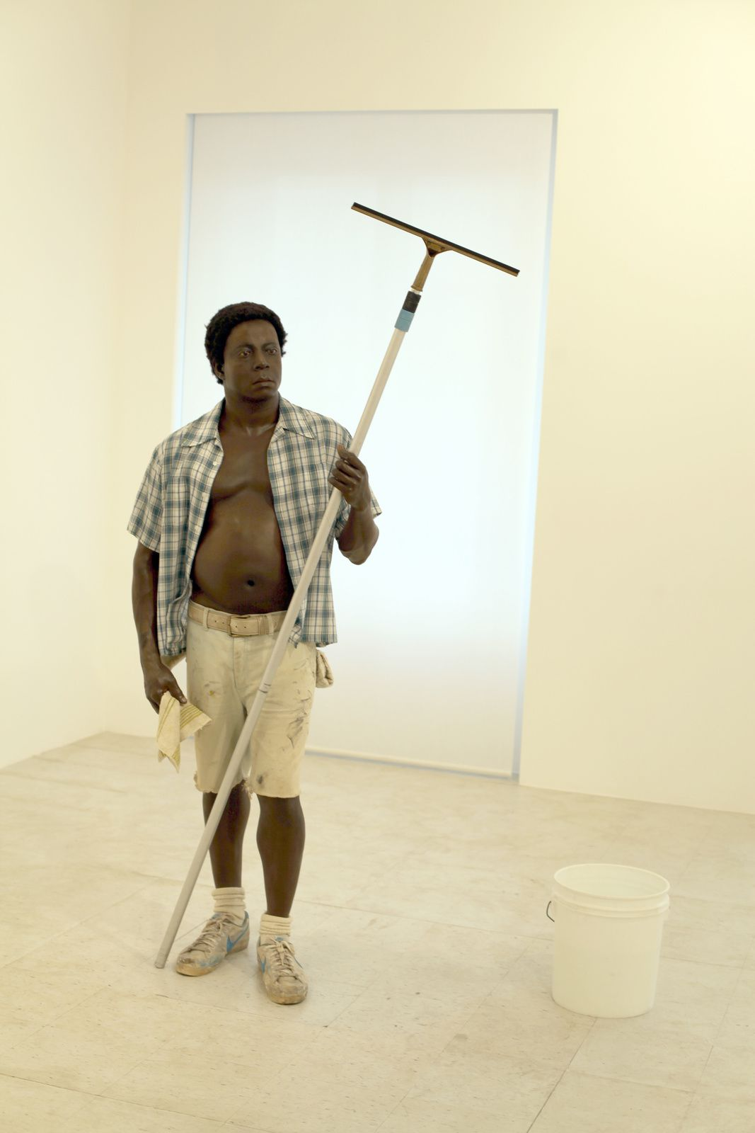 """Window Washer"", 1984 de Duane HANSON - Courtesy Gagosian Gallery © Photo Éric Simon"