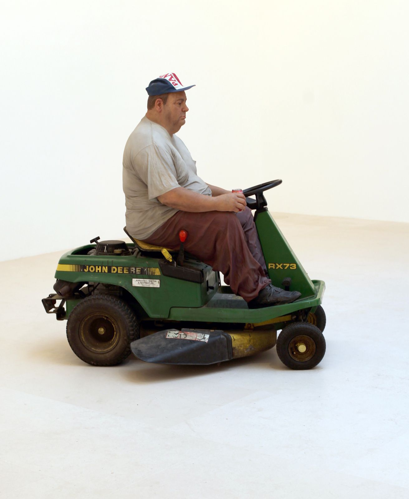 """Man on a Mower"", 1995 de Duane HANSON - Courtesy Gagosian Gallery © Photo Éric Simon"