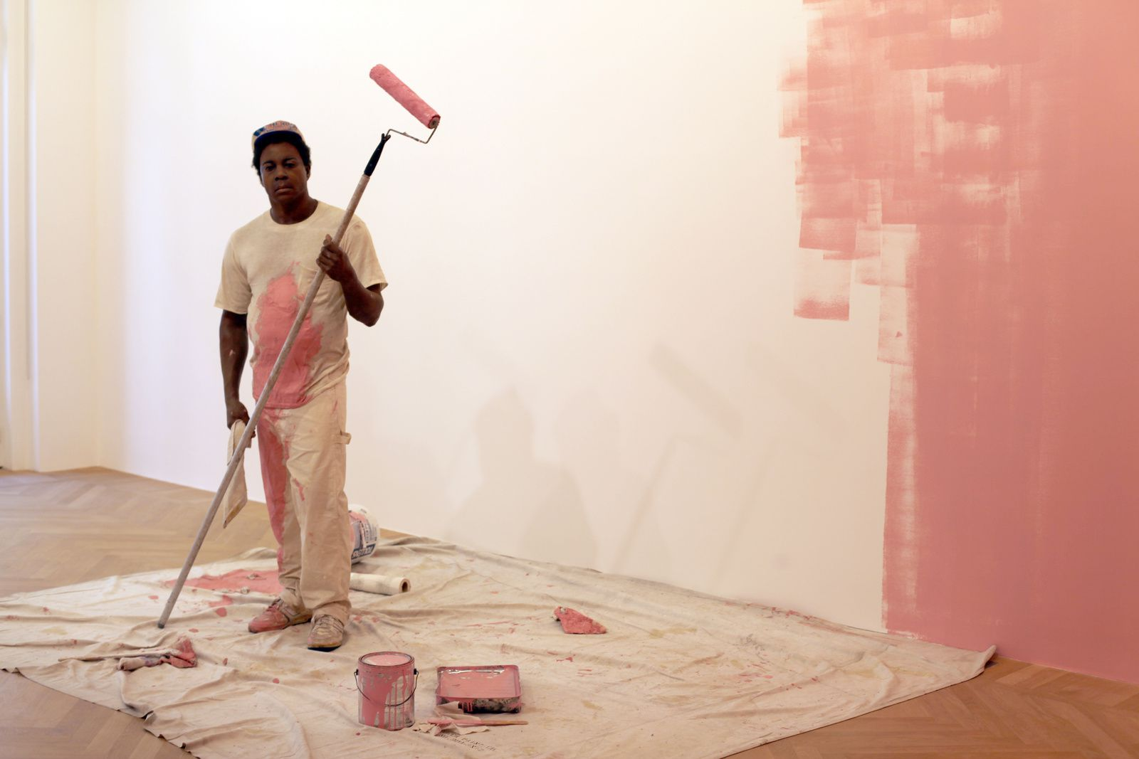 """Housepainter I"", 1984-1988 de Duane HANSON - Courtesy Gagosian Gallery © Photo Éric Simon"