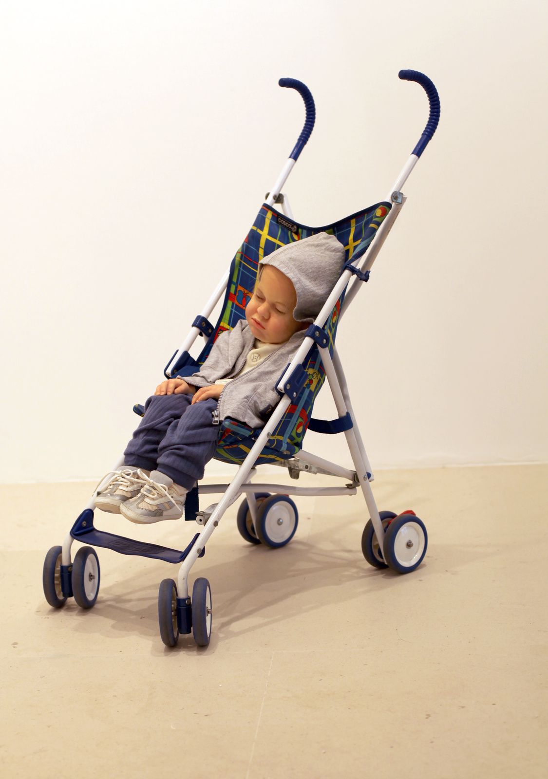 """Baby in Stroller"", 1995 de Duane HANSON - Courtesy Gagosian Gallery © Photo Éric Simon"