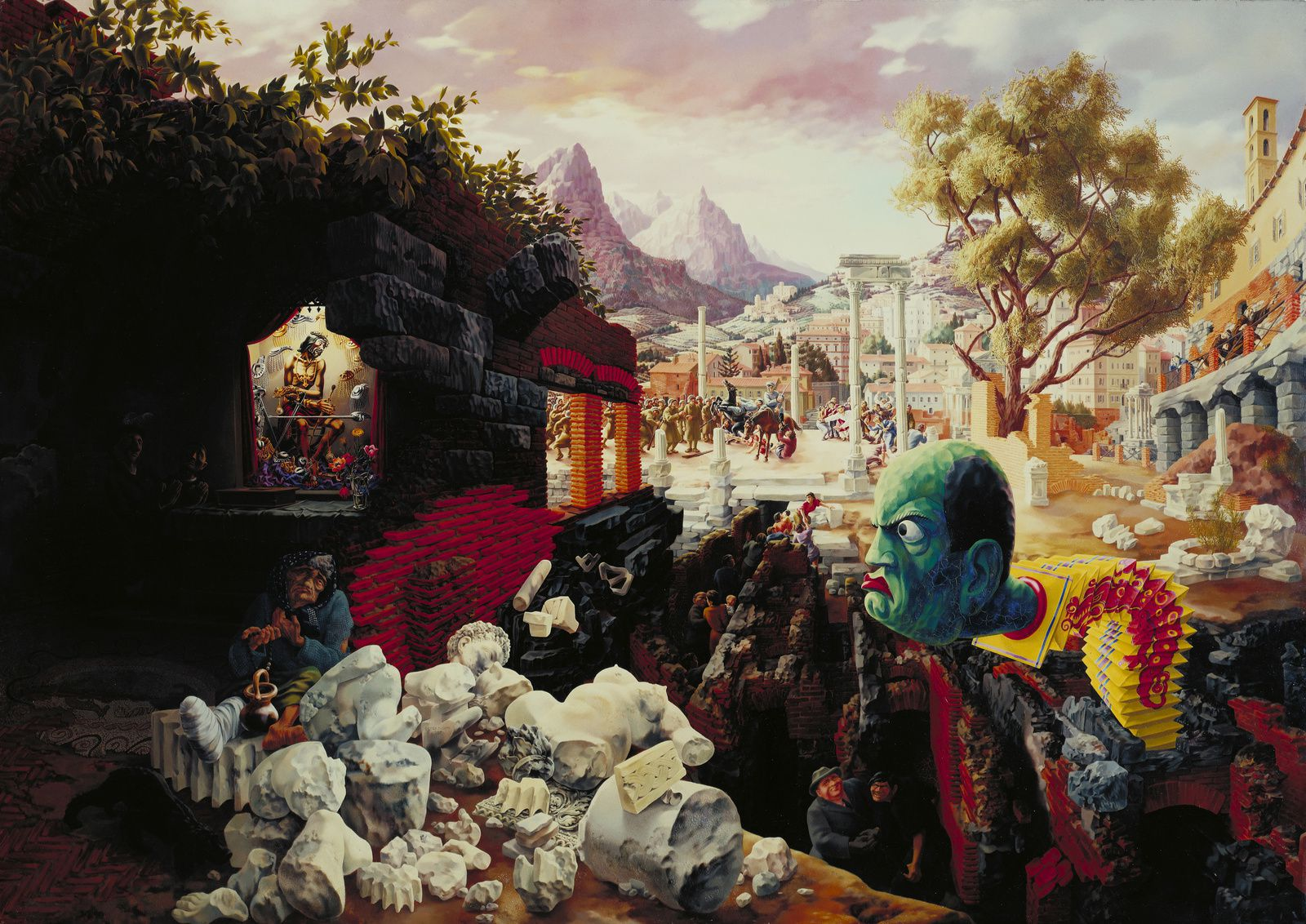 "'The Eternal City"", 1934 de Peter BLUME - Courtesy MOMA NY"