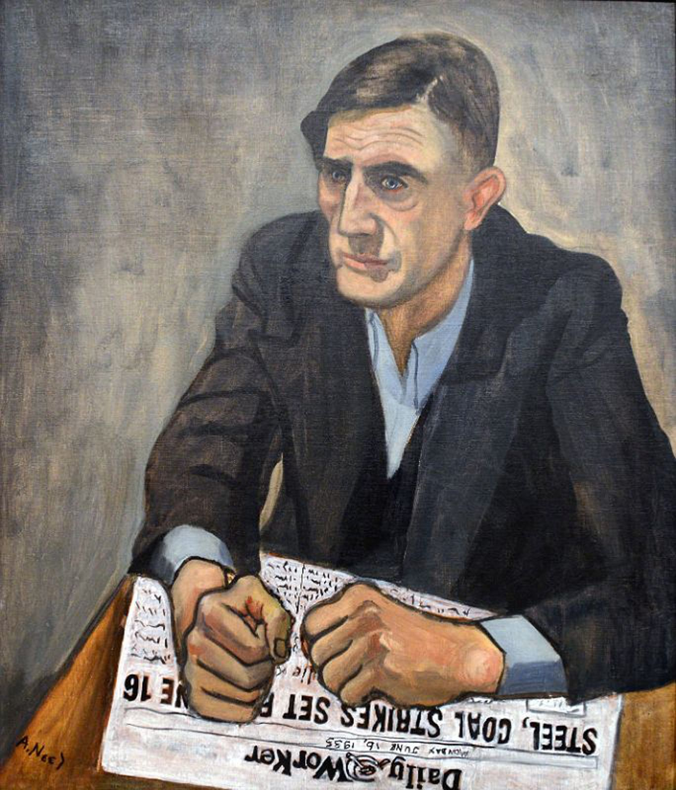 """Pat Whalen"", 1935 de Alice Neel - Courtesy Whitney Museum Of American Art"