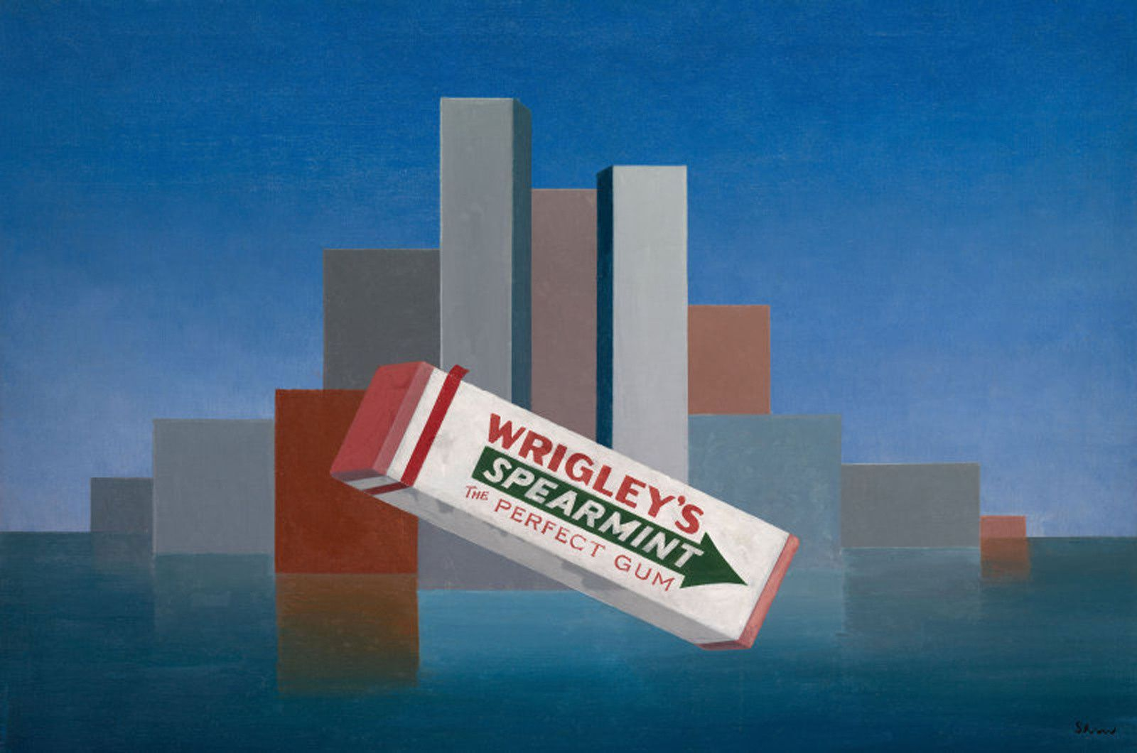 """Wrigley's"", 1937 Charles Green Shaw - Courtesy  The Art Institute of Chicago"