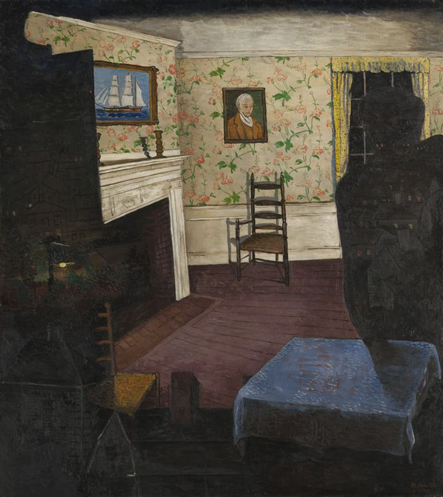 """Haunted House"", 1930 de Morris KANTOR - Courtesy The Art of Institute of Chicago"