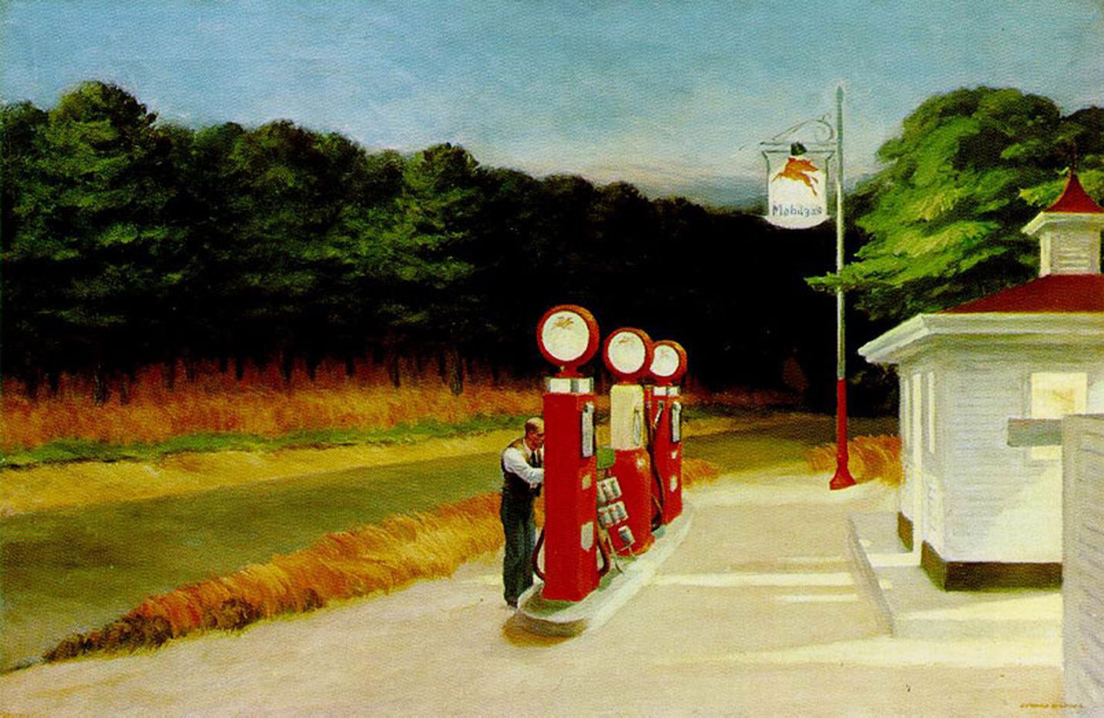 """Gas"", 1940 d'Edward HOPPER - Courtesy MOMA, New York"