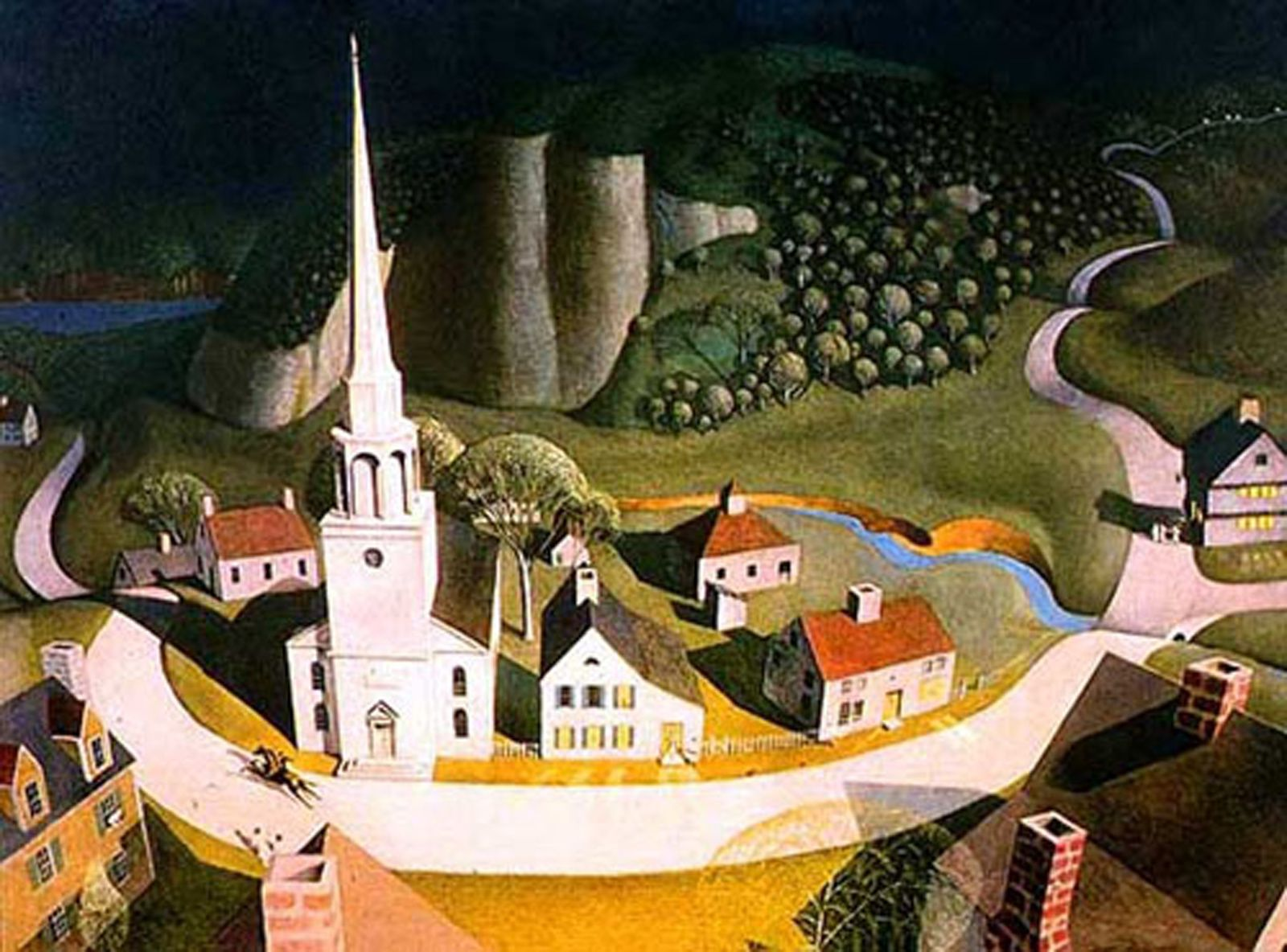 """The midnight Ride of Paul Revere"", de Grant WOOD - Courtesy The Metropolitan Museum of Art"