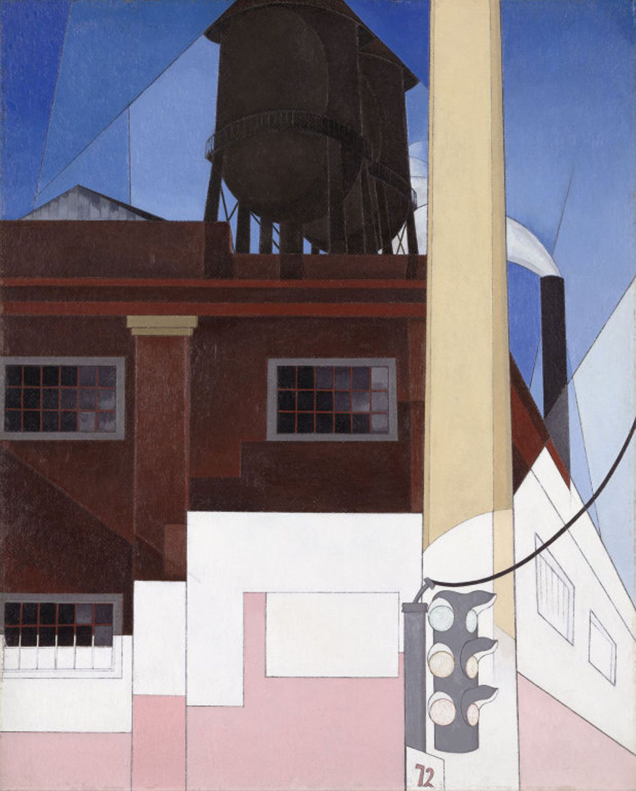 """...And the Home Of the Brave"", 1931 de Charles DEMUTH - Courtesy The Art of Intitute of Chicago"