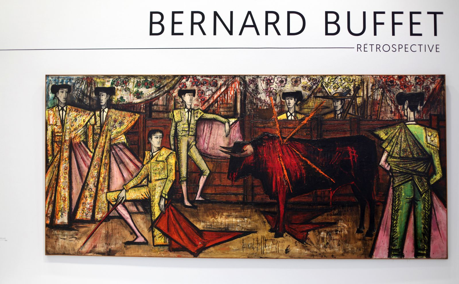 """La Corrida, Desplante de Rodillas"", 1966 de Bernard BUFFET - Courtesy Fonds de dotation B. Buffet © Photo Éric Simon"