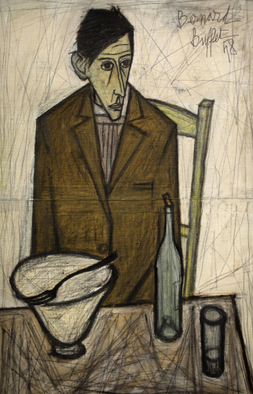 """Le Buveur"", 1948 de Bernard BUFFET - Courtesy MAM © Photo Éric Simon"