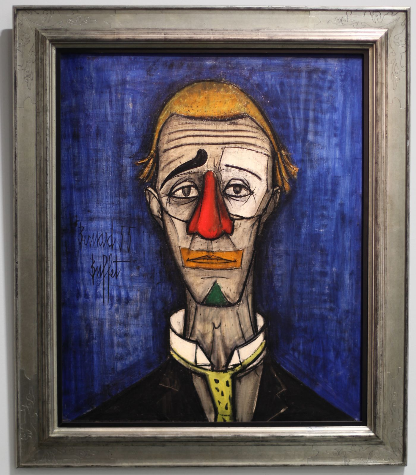 """Tête de Clown"", 1955 de Bernard BUFFET - Courtesy Fonds de dotation B. Buffet © Photo Éric Simon"