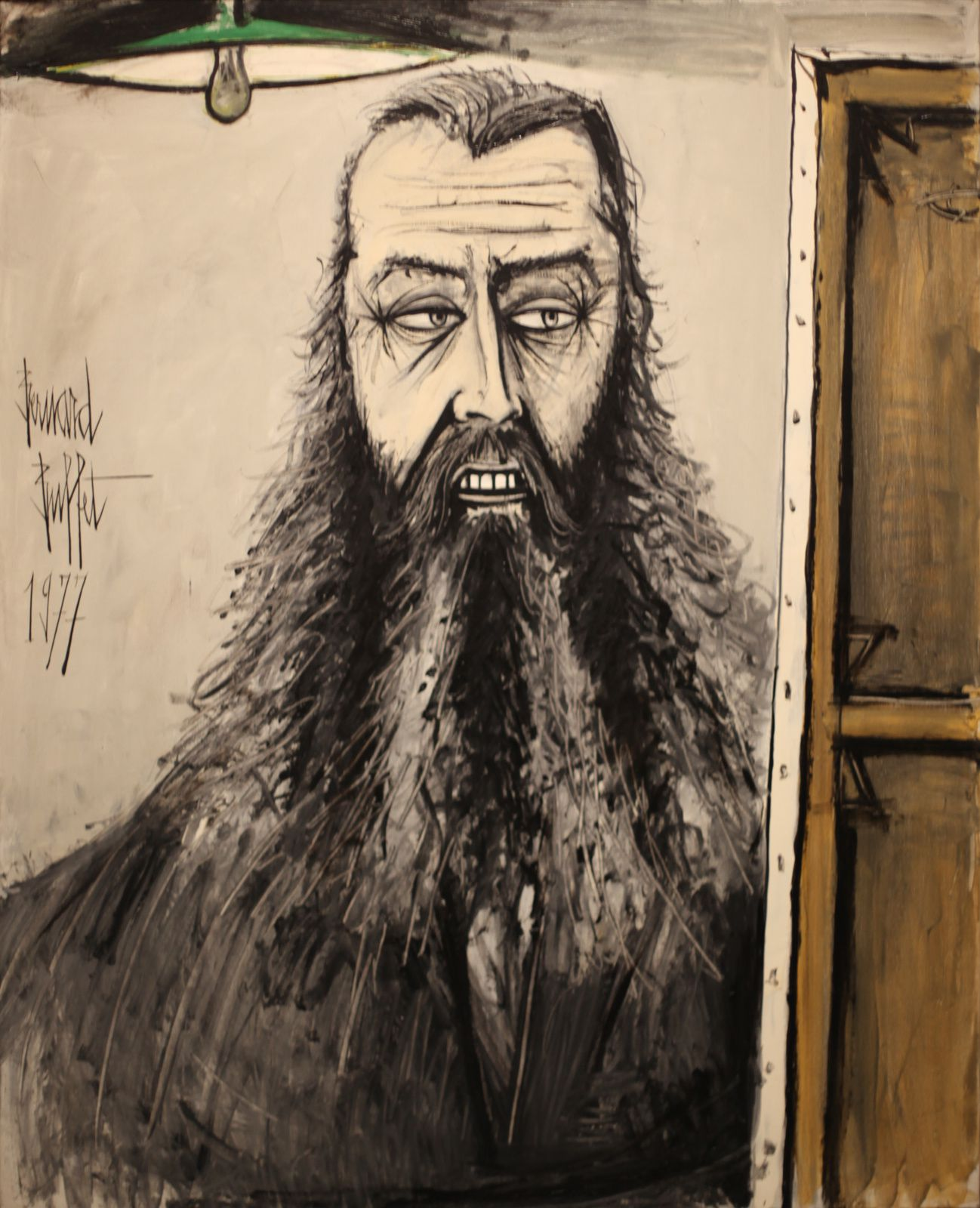 """Autoportrait II"", 1977 de Bernard BUFFET - Courtesy Fonds de dotation B. Buffet © Photo Éric Simon"