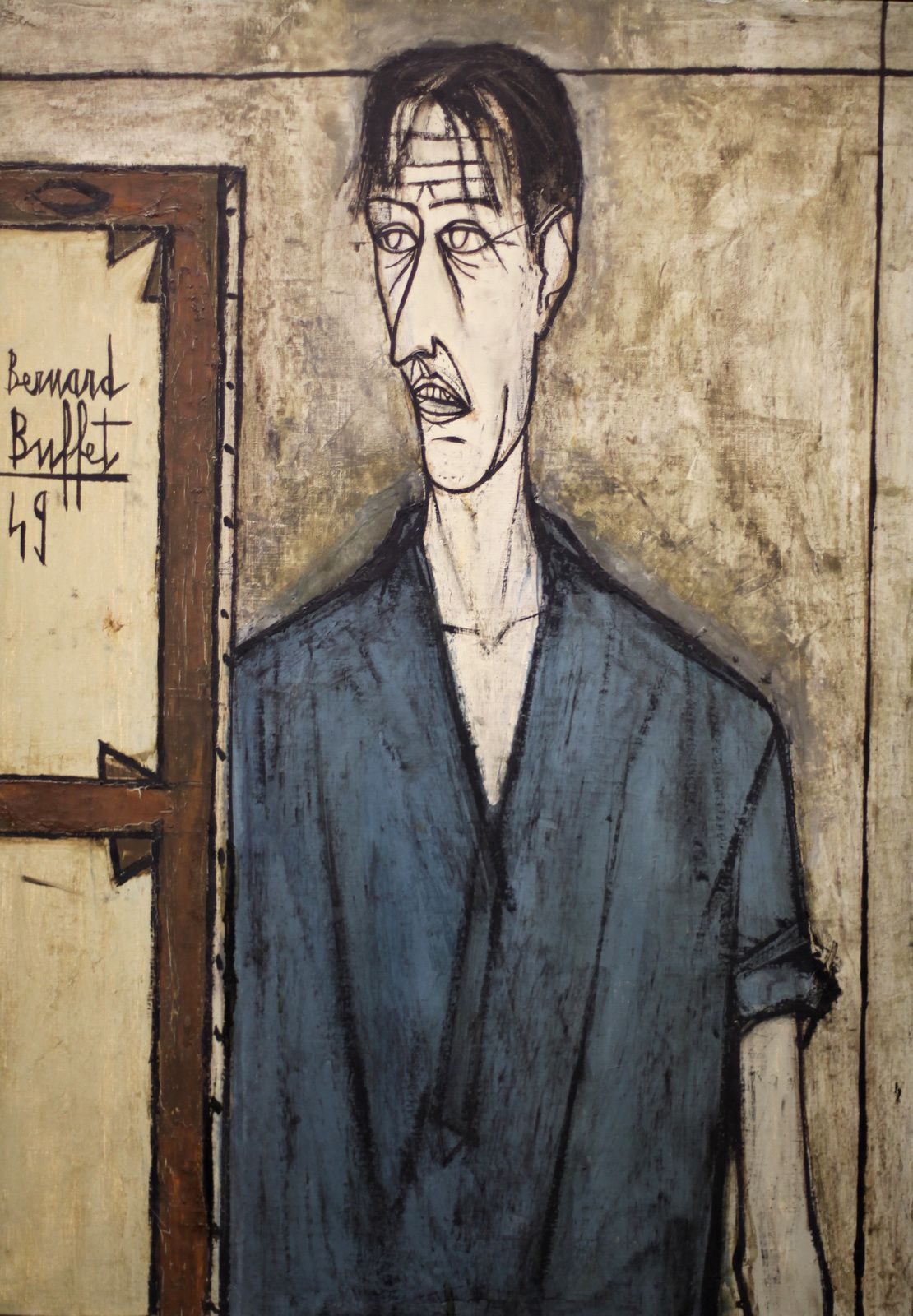 """Autoportrait"", 1949 de Bernard BUFFET - Courtesy MAM © Photo Éric Simon"