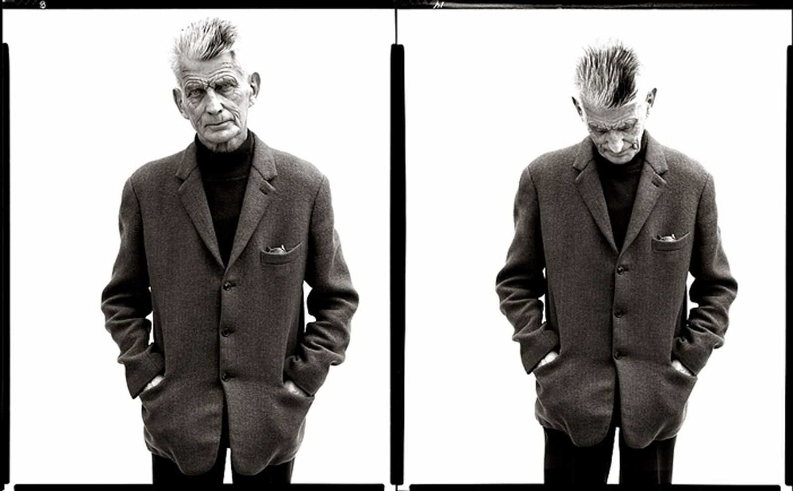 """Samuel Beckett, writer, Paris, April 13"", 1979 de Richard AVEDON - Courtesy Fondation Avedon"