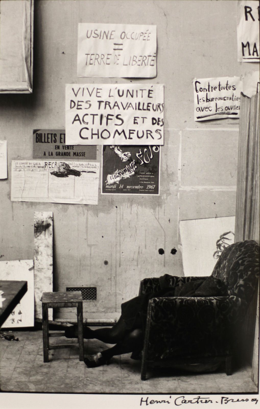 """École des Beaux-arts, PARIS"", 1968 de Henri CARTIER-BRESSON © Photo Éric Simon"