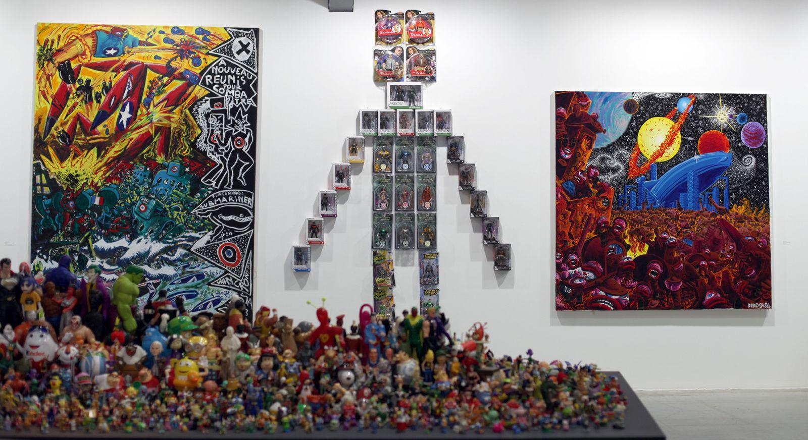 Vue de l'exposition d'Hervé DI ROSA - Courtesy de l'artiste © Photo Éric Simon