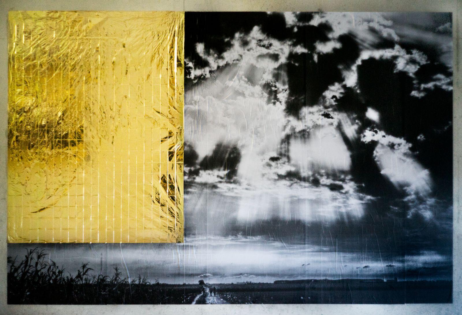 """""""Sur le chemin de l'exode"""", 2015 de Louis JAMMES - Courtesy Galerie Rabouan Moussion"""