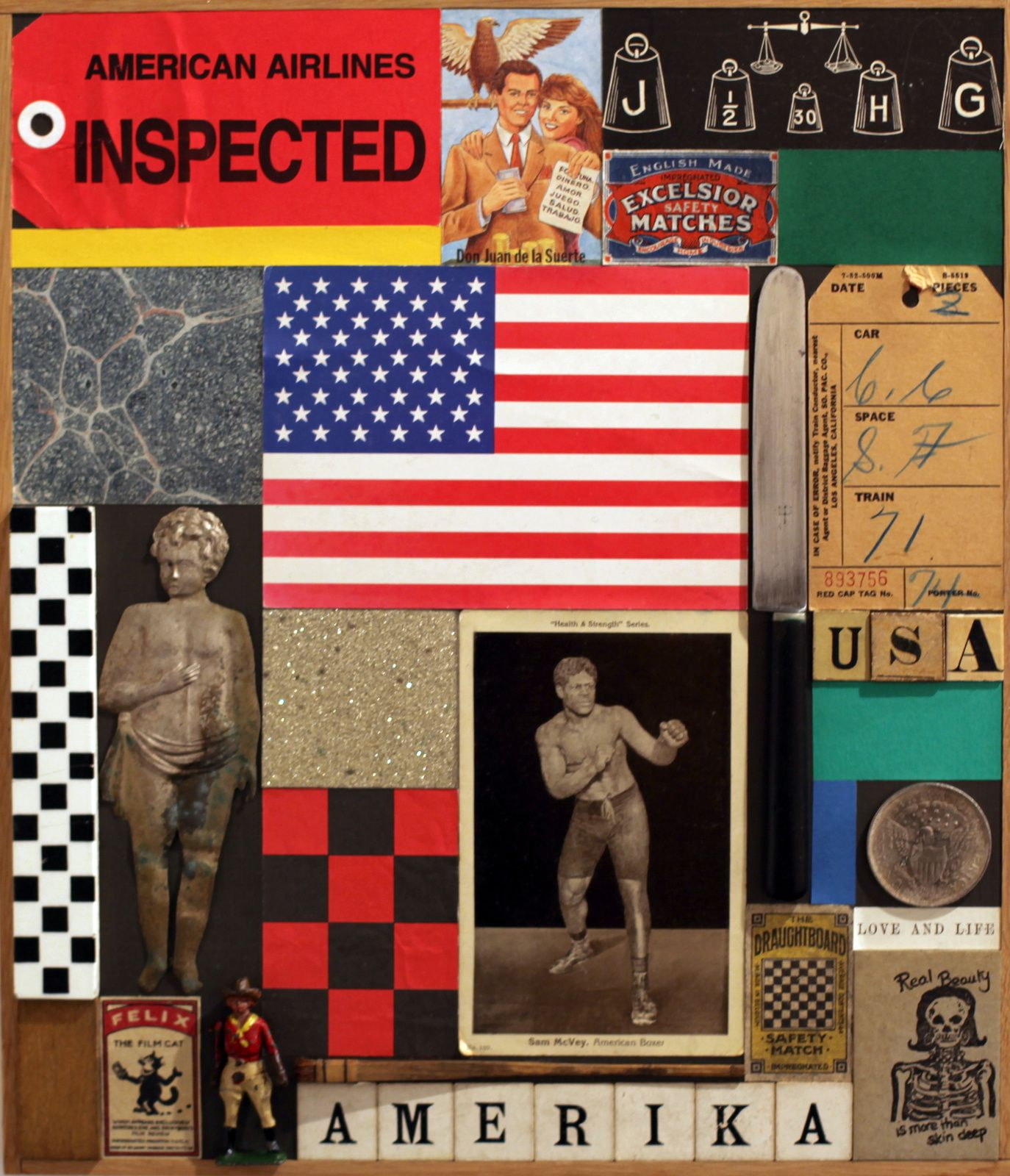 """USA II"", 2013 de Peter BLAKE - Courtesy Galerie Claude BERNARD © Photo Éric Simon"
